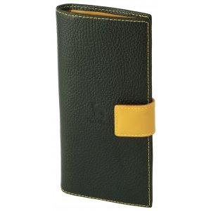 Вертикальное портмоне Mumi черный/янтарь