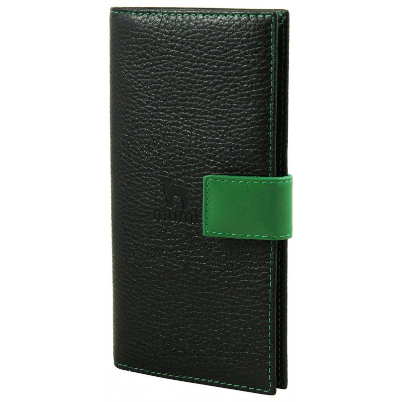 Вертикальное портмоне Mumi черный/казино