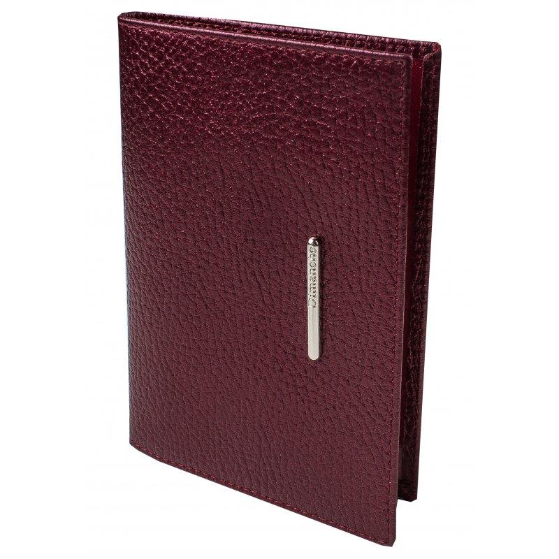 Обложка для паспорта Nice вишневый перламутр