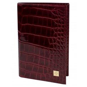 Обложка для паспорта Вишневый крокодил