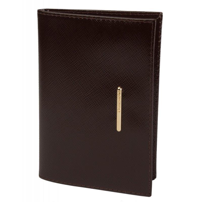 Обложка для паспорта Nice коричневый сафьян