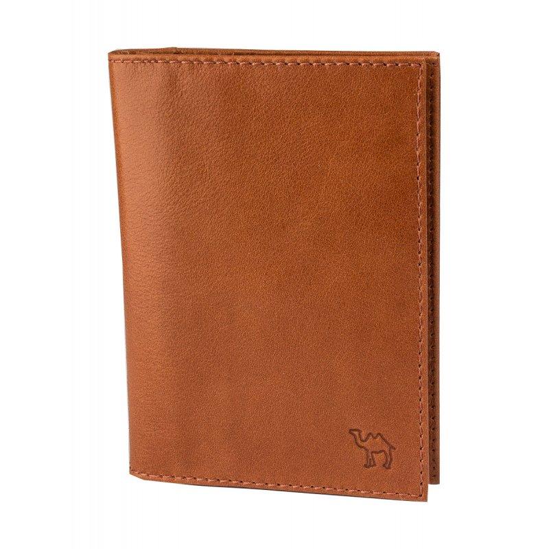 Бумажник водителя с пластиковым блоком (6 карманов) и отделением для паспорта Camel рыжий