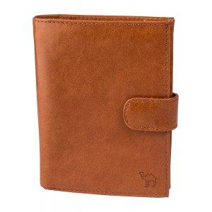 Портмоне с блоком для прав и отделением для паспорта Camel рыжий