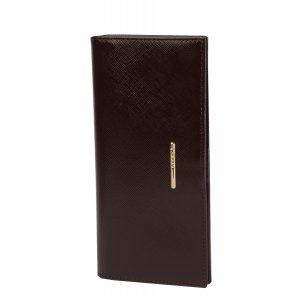 Вертикальное портмоне Nice коричневый сафьян