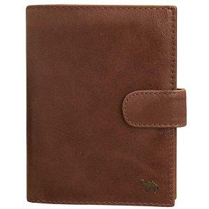 Портмоне с блоком для прав и отделением для паспорта Camel премиум рыжий