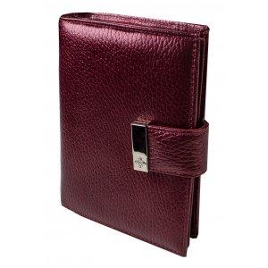 Портмоне с блоком для прав и отделением для паспорта  Nice вишневый перламутр