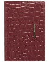 Обложка для паспорта Nice бордовый крокодил