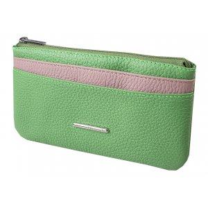 Портмоне мод.8-504 св.зеленое/розовое