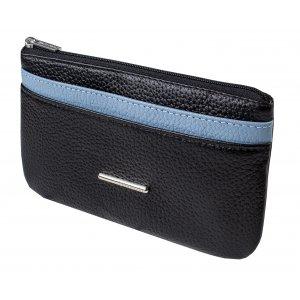 Портмоне мод.8-504 черное/голубое