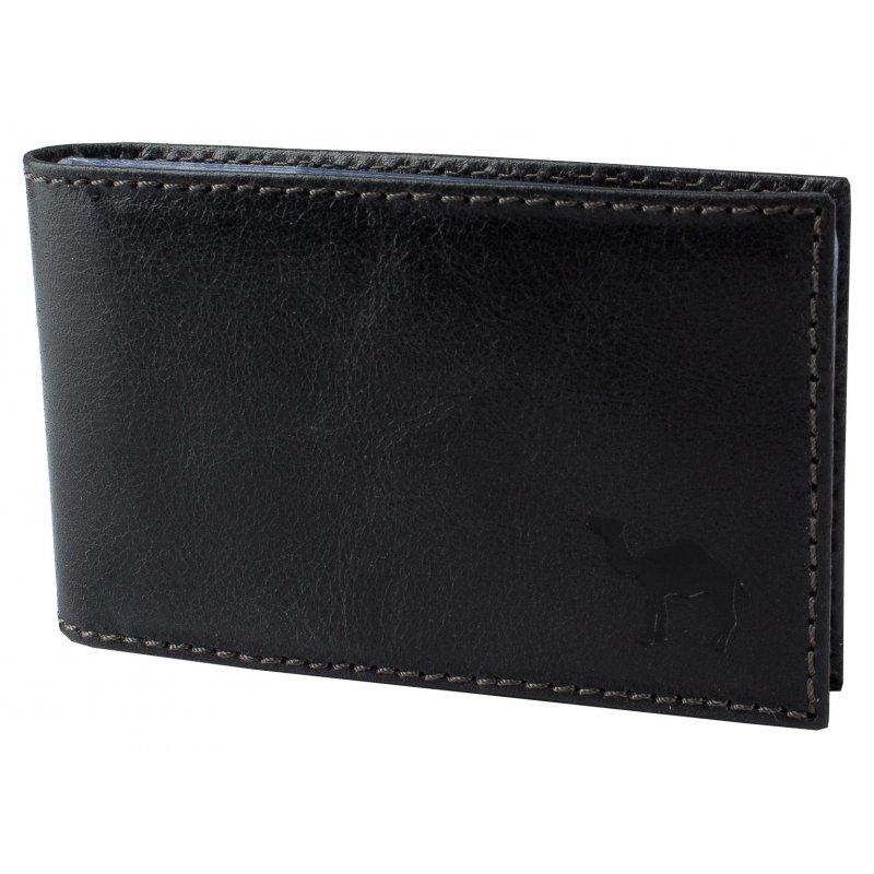 Футляр для визиток с пластиковым блоком Camel черный
