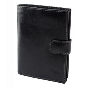 Портмоне с блоком для прав и отделением для паспорта Camel черный
