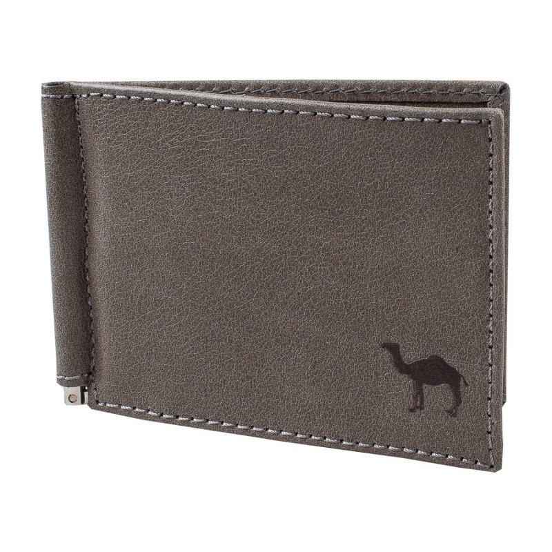 Зажим для денег с отделением для мелочи Camel серый