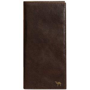 Вертикальное портмоне Camel премиум коричневый