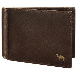 Зажим для денег  Camel премиум коричневый
