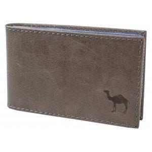Футляр для визиток с пластиковым блоком Camel серый