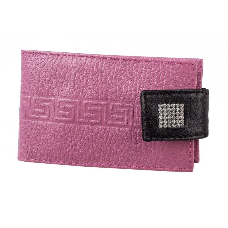 Футляр для визиток с пластиковым блоком  Parfum розовый