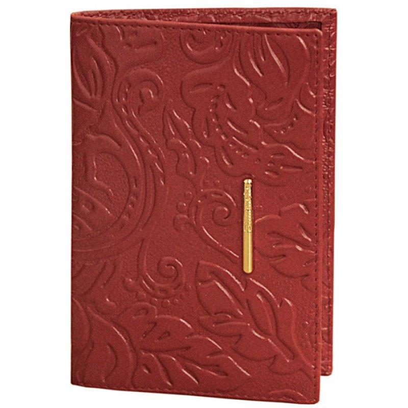 Обложка для паспорта Арабеска красная