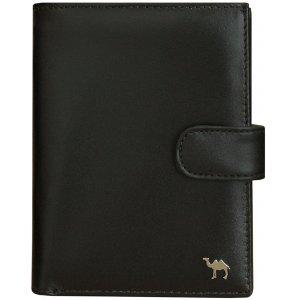 Портмоне с блоком для прав и отделением для паспорта Camel премиум черный