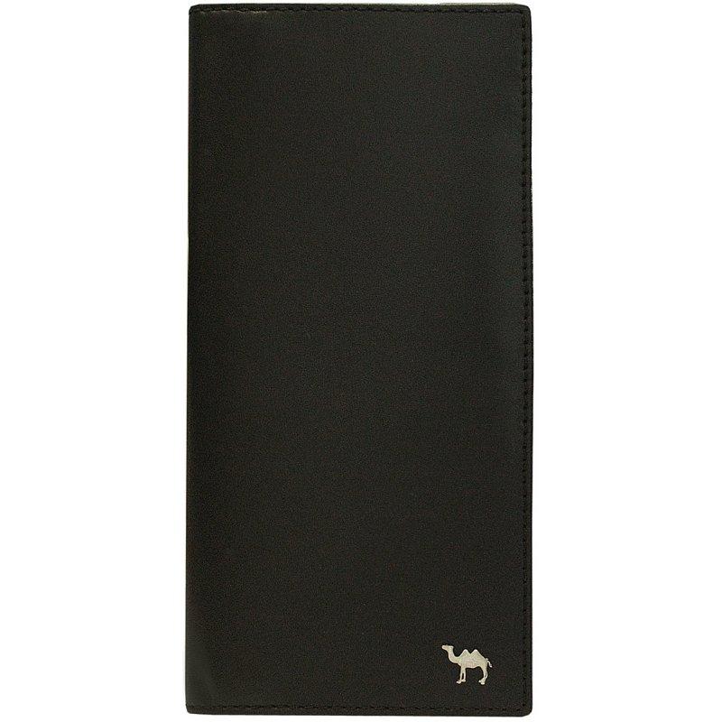 Вертикальное портмоне Camel премиум черный