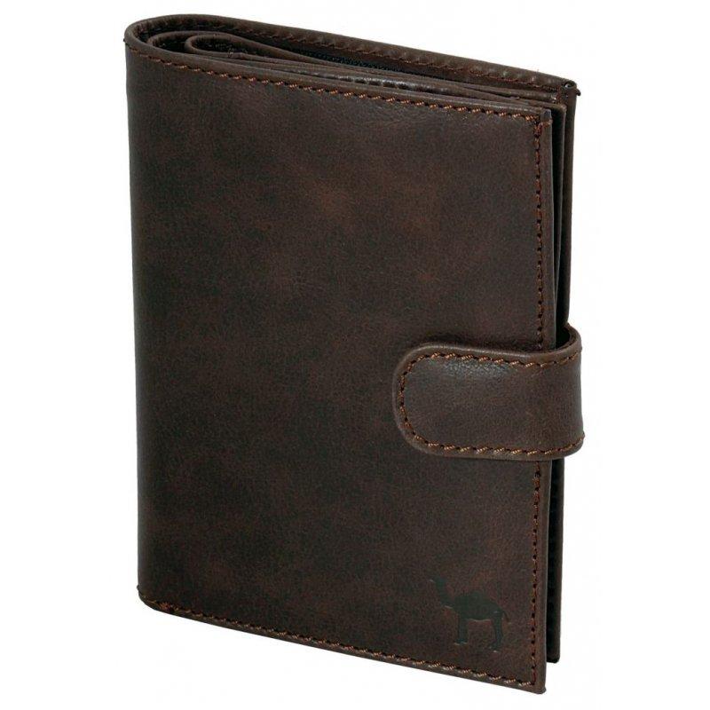 Портмоне с блоком для прав и отделением для паспорта Camel коричневый